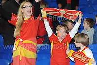 Cardiff City Stadium, Friday 11th Oct 2013. Macedonia supporters at the Wales v Macedonia FIFA World Cup 2014 Qualifier match at Cardiff City Stadium, Cardiff, Friday 11th Oct 2014. All images are the copyright of Jeff Thomas Photography-07837 386244-www.jaypics.photoshelter.com