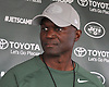 Todd Bowles, New York Jets head coach, speaks with the media after a day of team training camp at Atlantic Health Jets Training Center in Florham Park, NJ on Tuesday, Aug. 2, 2016.