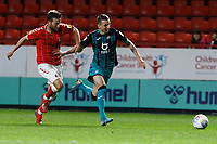 Bersant Celina of Swansea City (R) during the Sky Bet Championship match between Charlton Athletic and Swansea City at The Valley, London, England, UK. Wednesday 02 October 2019