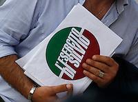 Manifestazione  di Forza Italia<br /> nella foto   esercito di silvio