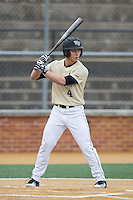 Stuart Fairchild (4) of the Wake Forest Demon Deacons at bat against the Harvard Crimson at David F. Couch Ballpark on March 5, 2016 in Winston-Salem, North Carolina.  The Crimson defeated the Demon Deacons 6-3.  (Brian Westerholt/Four Seam Images)