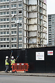 Demolition of  Gloucester House, South Kilburn Estate.