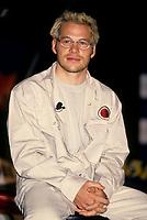 July 9 1999 file Photo - Montreal, Quebec, CANADA - Formula One driver Jacques Villeneuve speak at the news conference  for BAR team
