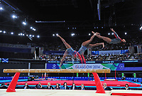 England's Claudia Fragapane competes in the women's gymnastics artistic balance beam final<br /> <br /> Photographer Chris Vaughan/CameraSport<br /> <br /> 20th Commonwealth Games - Day 9 - Friday 1st August 2014 - Gymnastics - SECC - Glasgow - UK<br /> <br /> © CameraSport - 43 Linden Ave. Countesthorpe. Leicester. England. LE8 5PG - Tel: +44 (0) 116 277 4147 - admin@camerasport.com - www.camerasport.com