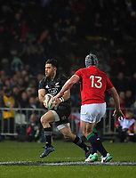 Nehe Milner-Skudder in action during the 2017 DHL Lions Series rugby union match between the NZ Maori and British & Irish Lions at Rotorua International Stadium in Rotorua, New Zealand on Saturday, 17 June 2017. Photo: Dave Lintott / lintottphoto.co.nz