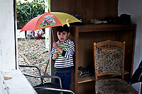 GERMANY, Pulheim: Mohammed in his new garden. He's free to play outside without his parents get worried like they were in Cairo.