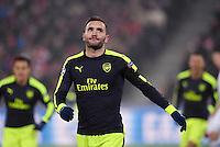 FUSSBALL CHAMPIONS LEAGUE SAISON 2016/2017 GRUPPENPHASE FC Basel - Arsenal London            06.12.2016 JUBEL Torscheutze Lucas Perez (Arsenal)