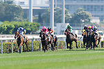 Jockey Matthew Poon Ming-fai (L) riding Kingsfield during the Race 7 Audemars Piguet Lady Millenary Handicap at Sha Tin Racecourse on April 30, 2017 in Hong Kong, China. (Photo by Marcio Rodrigo Machado / Power Sport Images)