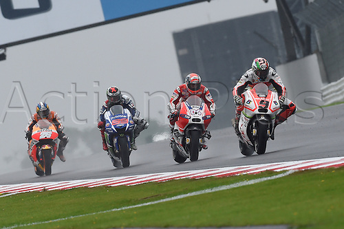 30.08.2015. Silverstone, Northants, UK. OCTO British Grand Prix. Danilo Petrucci (Pramac Team)  during the race with a 2nd place finish