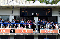 A general view of the scoreboard at full time. Aviva Premiership match, between Bath Rugby and London Irish on May 5, 2018 at the Recreation Ground in Bath, England. Photo by: Patrick Khachfe / Onside Images