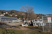 Gavirate. Lombardia. ITALY. General View.  Regatta infrastructure, start pontoons, Launches, finish Tower  GAVIRATE. Rowing club part of the AIS, Boathouse in the background<br /> <br />  <br /> Saturday  24/12/2016<br /> <br /> [Mandatory Credit; Peter Spurrier/Intersport-images]<br /> <br /> {make} {model}. ISO {iso}  f{aperture}  Lens {lens}mm   {filesize}
