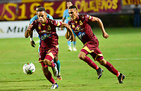 IBAGUE - COLOMBIA, 26-08-2019: Anderson Plata del Tolima en acción durante partido entre Deportes Tolima y Jaguares de Córdoba por la fecha 8 de la Liga Águila II 2019 jugado en el estadio Manuel Murillo Toro de la ciudad de Ibagué. / Anderson Plata of Tolima in action during match between Deportes Tolima and Jaguares de Cordoba for the date 8 as part of Aguila League II 2019 played at Manuel Murillo Toro stadium in Ibague. Photo: VizzorImage / Juan Carlos Escobar / Cont