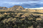 Sage lands and Oregon Buttes. Red Desert, Sweetwater County, Wyoming. May.