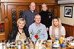 Michael O' Connor Abbeyfeale celebrated his 50th. Birthday with family last Saturday in Leen's Hotel. <br /> Seated with Michael is his wife Anna Maria & daughter Tanya also in photo is his brother & sister in law Tommy & Helen.