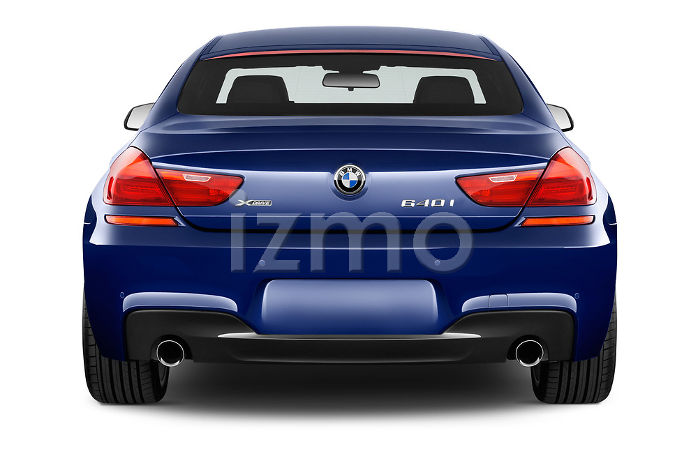 Straight rear view of 2019 BMW 6-Series-Gran-Coupe 640i-xDrive-M-Sport-Edition-AWD 4 Door Sedan Rear View  stock images