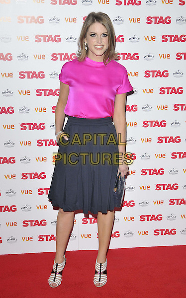LONDON, ENGLAND - MARCH 13: Amy Huberman attends the &quot;The Stag&quot; gala film screening, Vue West End cinema, Leicester Square, on Thursday March 13, 2014 in London, England, UK.<br /> CAP/CAN<br /> &copy;Can Nguyen/Capital Pictures