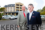Anthony O'Gara, the Managing Director of the Rose of Tralee International Festival and Tralee Mayor Jim Finucane  at the  Fels Point ( Rose )Hotel