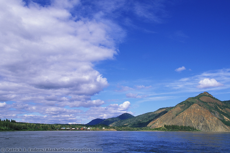Village of Eagle, from the Yukon River, Alaska