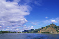 Village of Eagle, from the Yukon River, Alaska