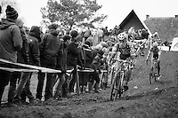 Jonathan Page (USA) on the muddy downhill<br /> <br /> GP Sven Nys 2014