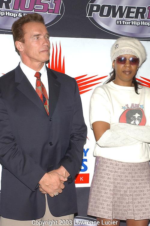 Arnold Schwarzenegger and Rah Digga