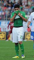 FUSSBALL   DFB POKAL   SAISON 2011/2012  1. Hauptrunde      30.07.2011 1. FC Heidenheim - SV Werder Bremen Mehmet Ekici (SV Werder Bremen) nachdenklich