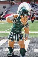 College Park, MD - November 3, 2018:  Michigan State Spartans mascot during the game between Michigan St. and Maryland at  Capital One Field at Maryland Stadium in College Park, MD.  (Photo by Elliott Brown/Media Images International)
