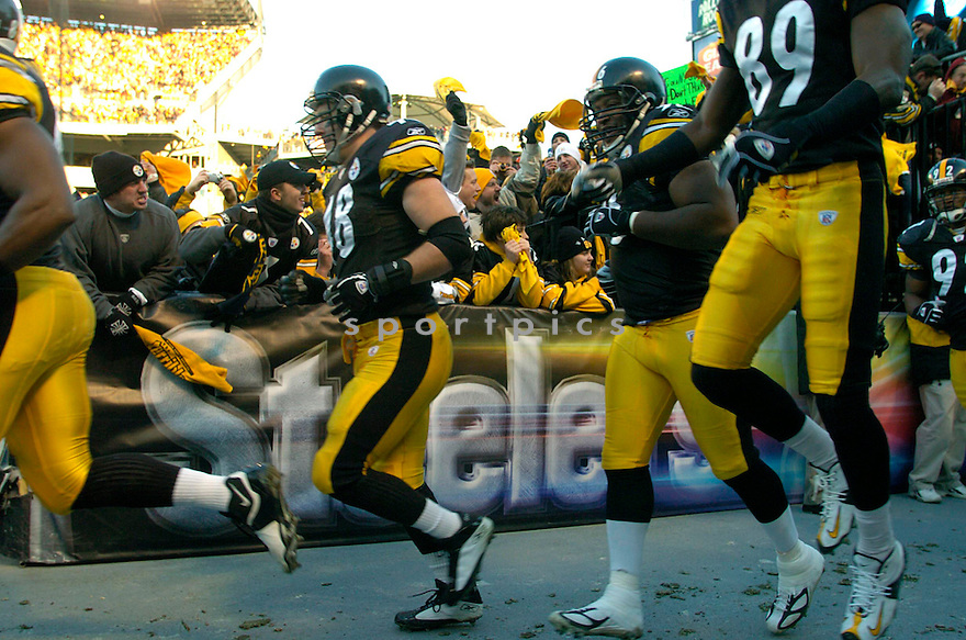 Feature and fans of the Pittsburgh Steelers  against  the New York Jets on 1/15/05..Steelers win 20-17..David Durochik / SportPics