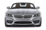 Car photography straight front view of a 2014 BMW Z4 sDrive35i Lounge 2 Door Convertible 2WD Front View
