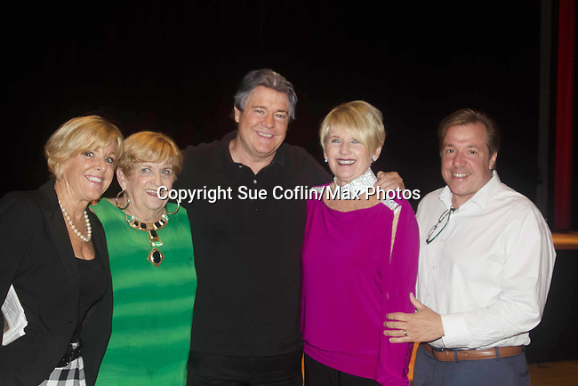 "Michael O'Leary's mom Sheila (green), sisters Reenie and Sharon & bro-law Robert - Guiding Light's Michael O'Leary author of ""Breathing Under Dirt"" - full play - had its world premier on August 13 and 14, 2016 at the Ella Fitzgerald Performing Arts Center, University of Maryland Eastern Shore, Princess Anne, Maryland  (Photo by Sue Coflin/Max Photos)"