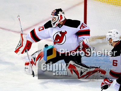 9 January 2010: New Jersey Devils' goaltender Martin Brodeur gives up a second period goal to the Montreal Canadiens at the Bell Centre in Montreal, Quebec, Canada. The Devils edged out the Canadiens 2-1 in overtime. Mandatory Credit: Ed Wolfstein Photo