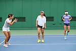 (L to R) <br /> Nao Hibino, <br /> Eri Hozumi, <br /> Misaki Doi (JPN), <br /> JULY 13, 2016 - Tennis : <br /> Training <br /> for Rio Olympic Games in Tokyo, Japan. <br /> (Photo by YUTAKA/AFLO SPORT)