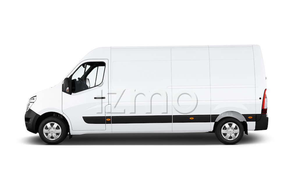 Car Driver side profile view of a2015 Nissan NV 400 Business 4 Door Cargo Van Side View