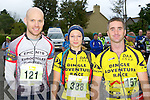 Adrian Hennessy, Yasmin Kenny and Noel O'Leary Dingle line up at the start of the Killarney Adventure race on Saturday ..