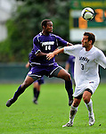 13 September 2009: University of Portland Pilots' midfielder Collen Warner, a Senior from Denver, CO, in action against the University of New Hampshire Wildcats during the second round of the 2009 Morgan Stanley Smith Barney Soccer Classic held at Centennial Field in Burlington, Vermont. The Pilots defeated the Wildcats 1-0 and inso doing were the Tournament Champions for 2009. Mandatory Photo Credit: Ed Wolfstein Photo