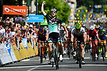 Pascal Ackermann (GER) Bora-Hansgrohe wins Stage 2 of the 2018 Criterium du Dauphine 2018 running 181km from Montbrison to Belleville, France. 5th June 2018.<br /> Picture: ASO/Alex Broadway | Cyclefile<br /> <br /> <br /> All photos usage must carry mandatory copyright credit (&copy; Cyclefile | ASO/Alex Broadway)