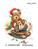 GIORDANO, CHRISTMAS ANIMALS, WEIHNACHTEN TIERE, NAVIDAD ANIMALES, Teddies, paintings+++++,USGI1598,#XA#