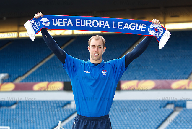 Steven Whittaker at Ibrox as they prepare the stadium for Thursday's Europa League match