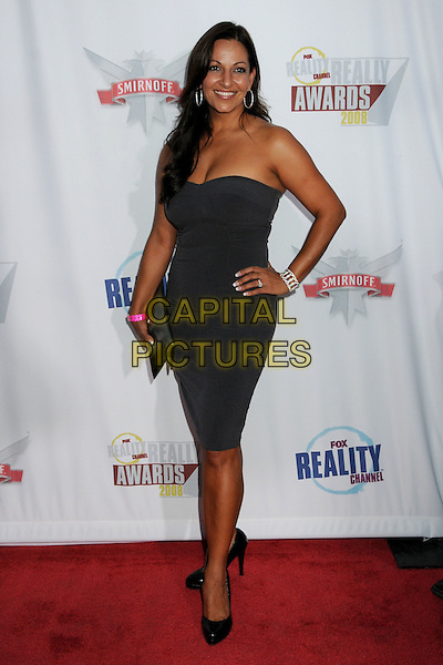 CHRISTINA CORIA.Fox Reality Channel's Really Awards 2008 at Avalon Hollywood, Hollywood, California, USA..September 24th, 2008.full length black strapless dress hand on hip .CAP/ADM/BP.©Byron Purvis/AdMedia/Capital Pictures.