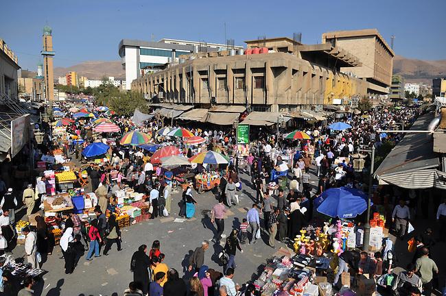 SULAYMANIYAH, IRAQ: A general view of Sulaimaniyah's bazaar...November 14, 2010, Sulaymaniyah celebrates its 225th birthday...Photo by Aram Karim/Metrography