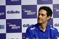 SAO PAULO, SP, 04.11.2013. LANCAMENTO GILETTE - AYRTON SENNA.  O piloto Bruno Senna , durante o lançamento do novo aparelho de barbear da marca Gilette em homenagem ao piloto Ayrton Senna. (foto: Adriana Spaca/brazil photo press)