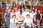 Sharon Canty, Ballyduff and Allen Quilter, Irrmore, Listowel, seated front celebrated their engagement with family and friends at McCarthy's bar Finuge on Saturday    Copyright Kerry's Eye 2008