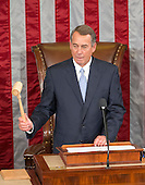 The Speaker of the United States House of Representatives John Boehner (Republican of Ohio) calls the US House to order in the US House Chamber in the US Capitol in Washington, DC on October 29, 2015.<br /> Credit: Ron Sachs / CNP