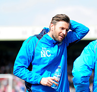 Lincoln City's assistant manager Nicky Cowley towards the end of the match<br /> <br /> Photographer Andrew Vaughan/CameraSport<br /> <br /> Vanarama National League - Lincoln City v Macclesfield Town - Saturday 22nd April 2017 - Sincil Bank - Lincoln<br /> <br /> World Copyright &copy; 2017 CameraSport. All rights reserved. 43 Linden Ave. Countesthorpe. Leicester. England. LE8 5PG - Tel: +44 (0) 116 277 4147 - admin@camerasport.com - www.camerasport.com