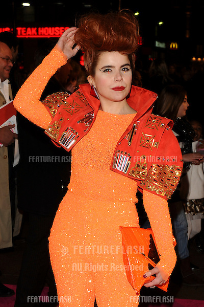 Paloma Faith arriving for the 'St. Trinians's 2: The Legend of Fritton's Gold' at the Empire Leicester Square, London.  09/12/2009 Picture by : Steve Vas / Featureflash