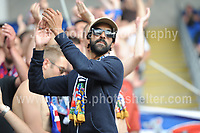 Supporters making lots of noise during the UEFA Champions league final Women's football between Lyon and Paris Saint-Germain at Cardiff City Stadium on 1st June 2017<br /> <br /> <br /> Jeff Thomas Photography -  www.jaypics.photoshelter.com - <br /> e-mail swansea1001@hotmail.co.uk -<br /> Mob: 07837 386244 -