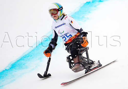 14.03.2014. Sochi, Russia.  Silver medalist Anna-Lena Forster of Germany in action during the Women's Super G - Standing of the Super Combined in Rosa Khutor Alpine Center at the Sochi 2014 Paralympic Winter Games, Krasnaya Polyana, Russia, 14 March 2014.