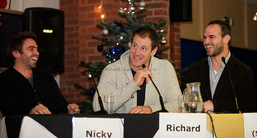 Photo: Richard Lane/Richard Lane Photography. Richard Birkett and John Hart's Testimonial Year It's Not Just a Question Of Sport with the London Wasps Supporters Club. 30/11/2011.