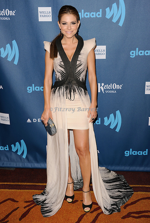 """Maria Menounos at the """"24th Annual GLAAD Media Awards"""" held at the JW Marriott Hotel in Los Angeles, CA. April 20, 2013."""