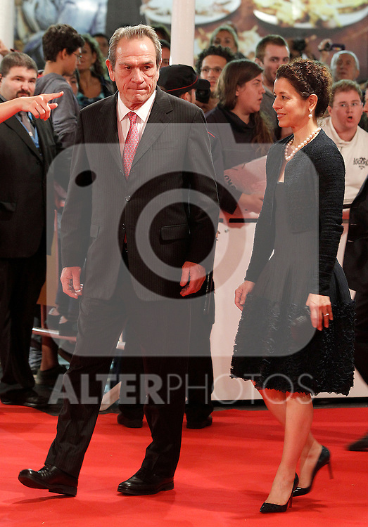 The actor Tommy Lee Jones and his wife during the photocall before the Donosti Award during the 60th San Sebastian Donostia International Film Festival - Zinemaldia.September 28,2012.(ALTERPHOTOS/ALFAQUI/Acero)